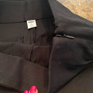 Old navy pants. With side zipper